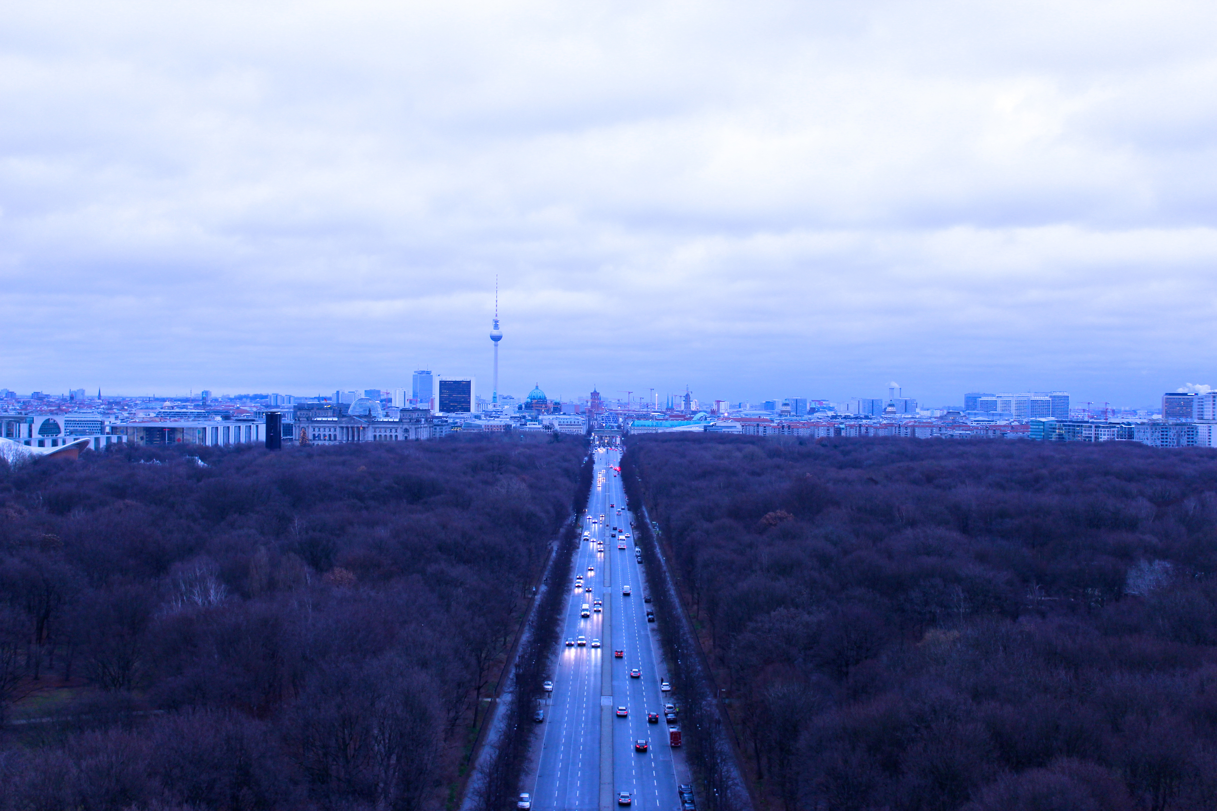 View from atop the Victory Column