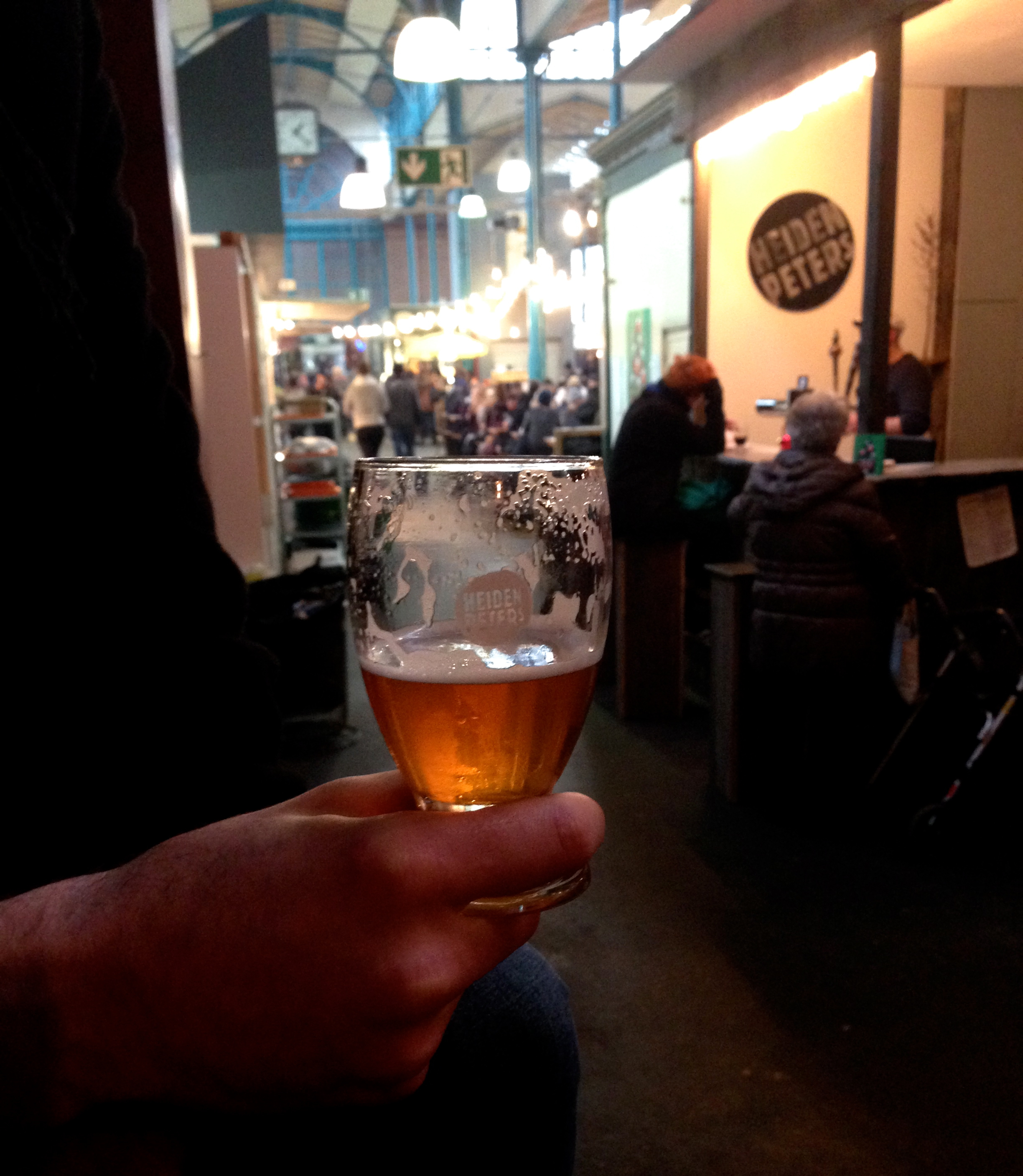 Heidenpeters pale ale at the awesome Markthalle Neun (check out their breakfast market on weekends!)