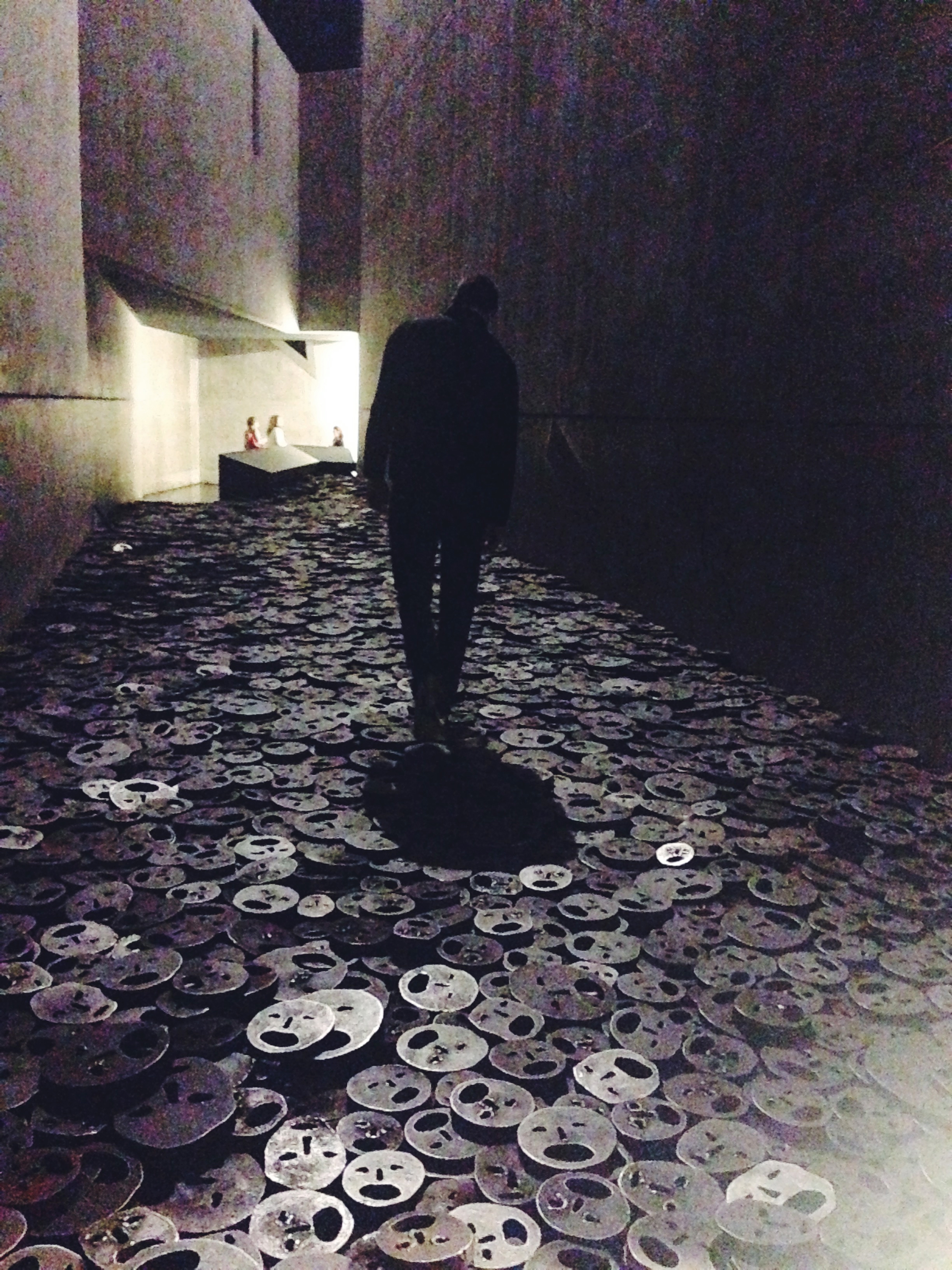 Moving exhibit - in the void - at the Jewish Museum