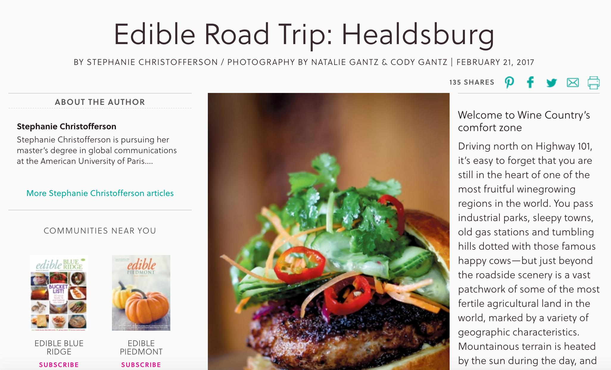 EdibleRoadTripHealdsburg