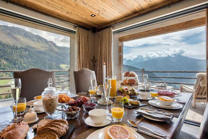 Large Verbier Chalet, Summer Breakfast in the Alps