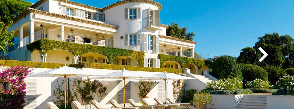 Villa Tessillac , Rayol-Canadel-sur-Mer, Côte d'Azur, France  Sleeps 16+4, 8 Bedrooms, Private Outdoor Pool, Main House & Guest Wing, Ocean Views   View Villa