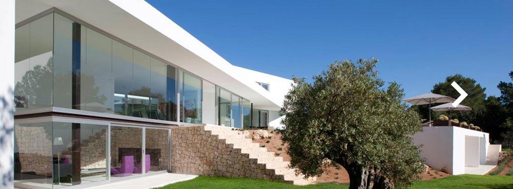 Villa Ixus , Cala Salada, Ibiza  Sleeps 14, 7 Bedrooms, Private Infinity Pool, Fitness Room   View Villa