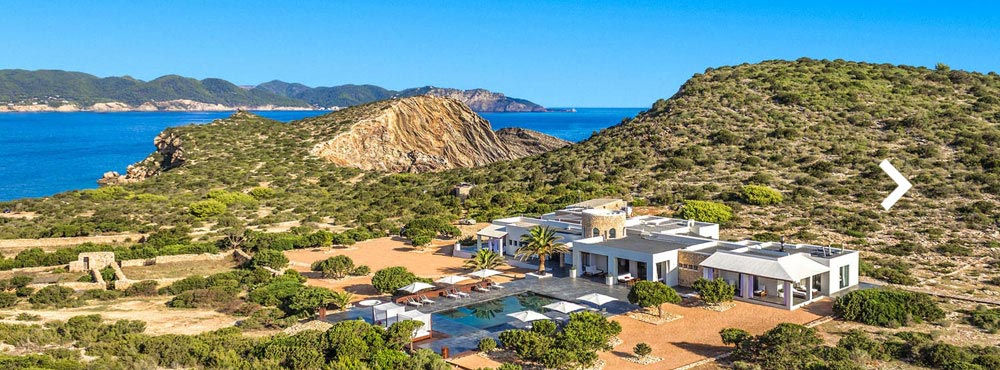 Villa Tagomago , Private Island, Ibiza  Sleeps 10, 5 Bedrooms, Private Outdoor Pool, Ocean Views, Nature Reserve   View Villa