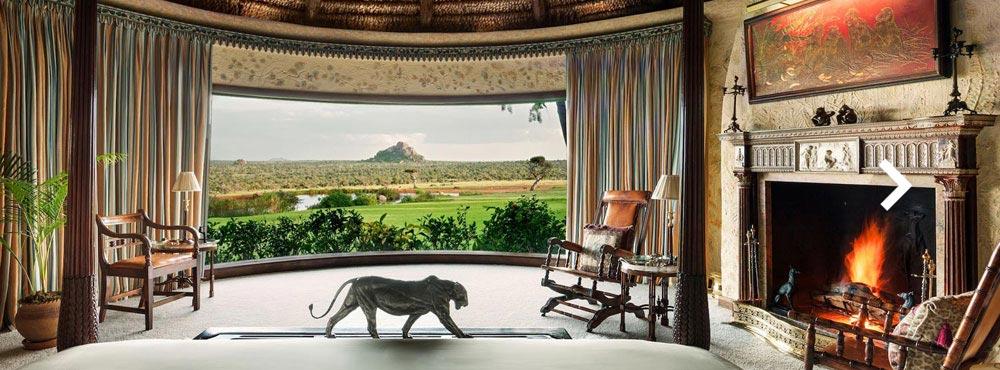 Ol Jogi Private Reserve  , Laikipia Plateau, Kenya  14 guests, 7 Guest Cottages, 58,000 acre Ranch, Game Drives & Conservation    View Villa