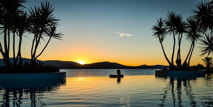 villa aqua whitsunday great barrier reef queensland australia villa for rental sunset