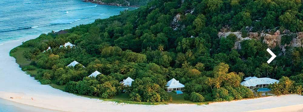 Cousine Island  , Seychelles, Indian Ocean  Sleeps 12 + 6, 6 Bedrooms, Private Swimming Pools, Ligne St Barth Spa, Unique Conservation Activities    View Villa