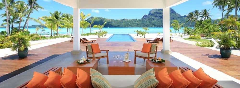 Bora Bora One  , Motu Piti A'au, Bora Bora, French Polynesia, Pacific Ocean  Sleeps 10, 5 Bedrooms, Private Pool, Private Beach, Aquatic Exploration    View Villa