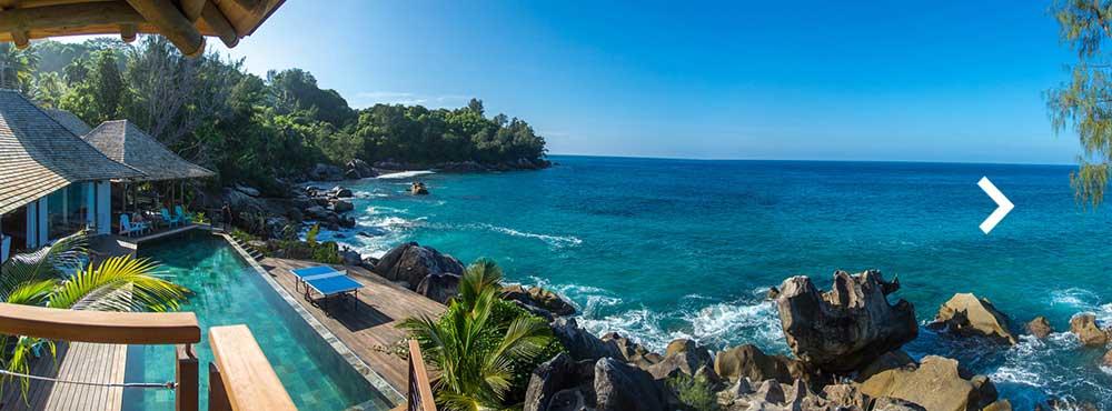 Villa Mahe  , Mahé, Seychelles  Sleeps 8, 4 Bedrooms, Infinity Pool, Oceanfront, Panoramic Sea Views    View Villa