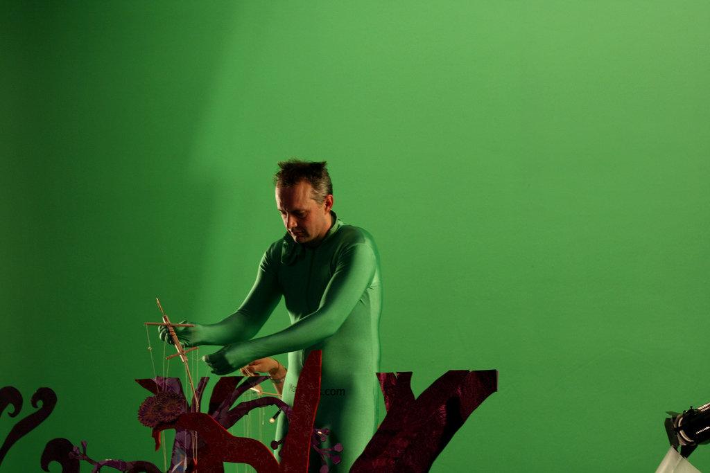 Filming 'Spider' video