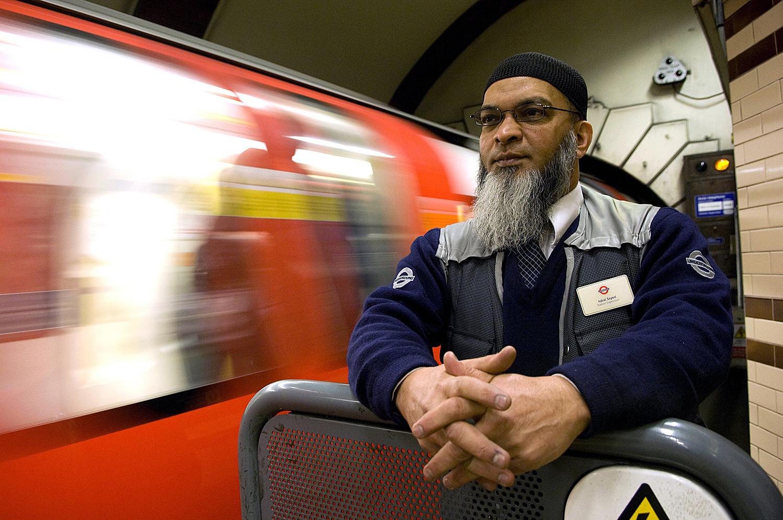 Portraits of tfl train staff on the London Underground
