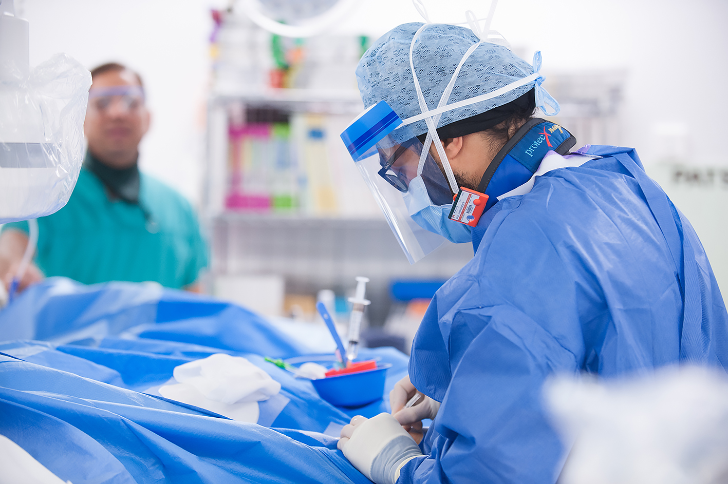 Surgeon performing surgery on patient in Hospital