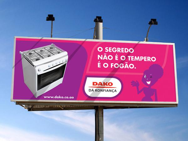 Campanha Dako, em vários suportes.