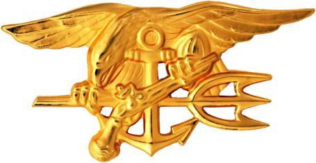 U.S. Navy Special Warfare Trident insignia worn by Navy SEALS.