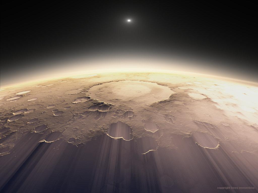 The Schiaparelli Crater on Mars