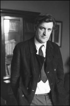 Photo of Ted Hughes by Cartier-Bresson from 1971 that Catherine studies