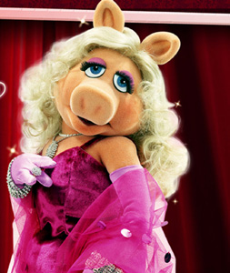 In the section 'Oink, Oink' teenage Sally Timms wears a Miss Piggy mask at a party in Slade House