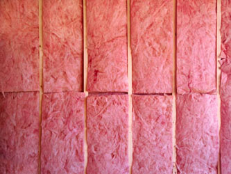 """Insulation nailed against the wall held a stuffing like pink cotton candy"""