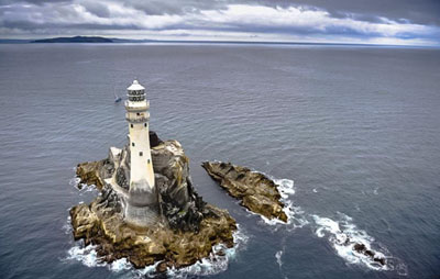 """The Fastnet Lighthouse, though crews on cargo ships call it the Lonely Rock... This is the last bit of Ireland emigrants glimpse when they're America bound."""