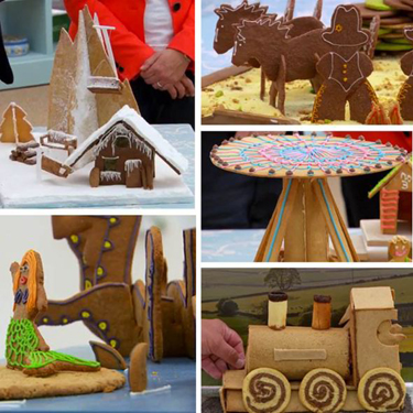 """Clover and Darren particularly like watching The Great British Bakeoff: """"This week, it's a 3D biscuit scene. He is gobsmacked by their creations: a train, a sea monster, even a bloody  carousel !"""""""