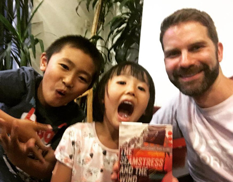 Since I was having trouble puzzling over what to make of Aira's novel I asked these cute kids what they thought it was about. They answered time travel and Vikings.