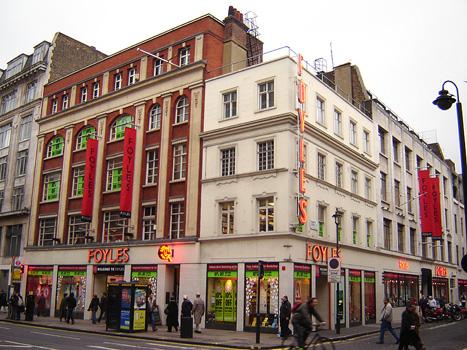 The original location of Foyles bookshop