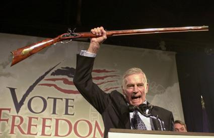 """""""Charlton Heston. Bob's old man loved this guy. Moses the gunslinger."""""""