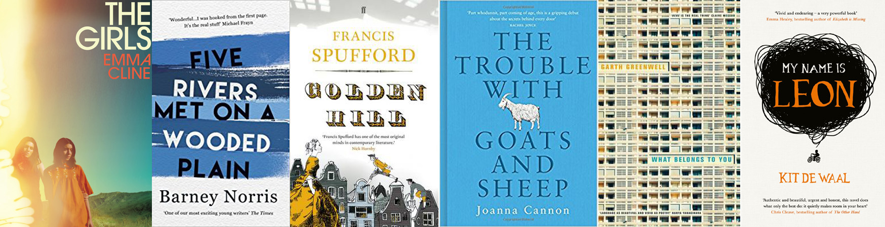 The British Book Awards / Nibbies 2017 Debut Fiction Book of the Year Shortlist