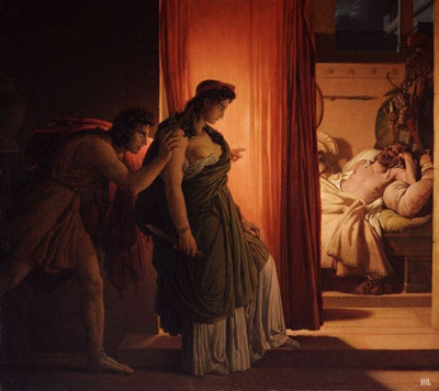 Pierre Narcisse Guerin's 1822 painting 'Clytemnestra and Agamemnon'