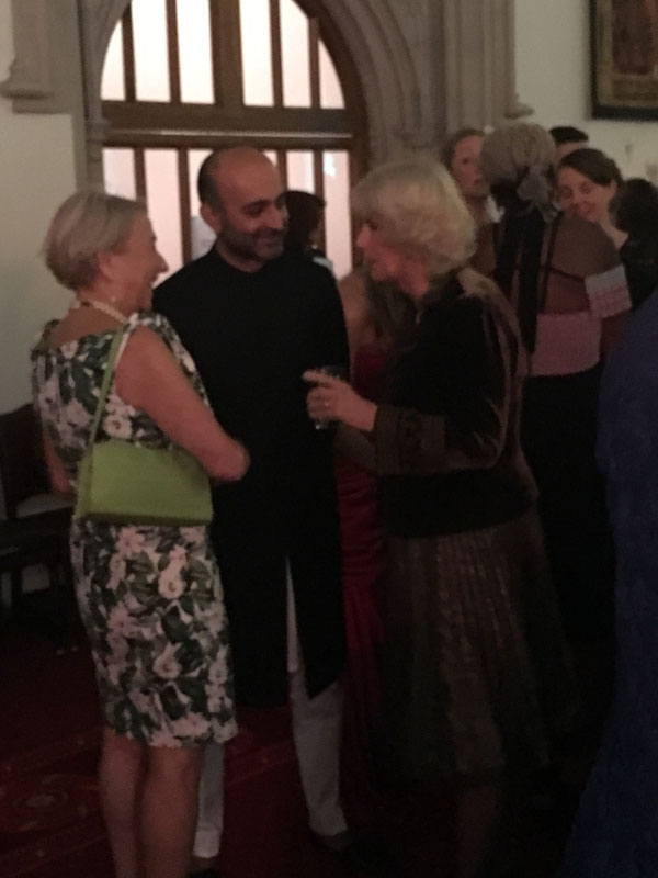 I spotted Mohsin Hamid chatting with the Duchess of Cornwall