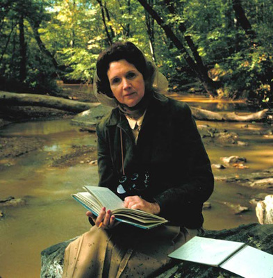 Frequent references are made to author and conservationist Rachel Carson