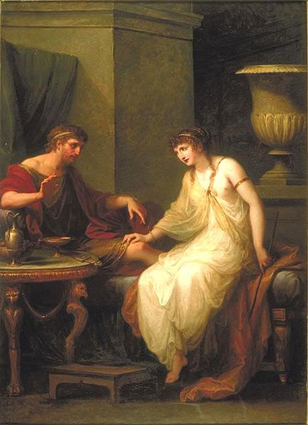 1786 Painting of Circe enticing Ulysses by Angelica Kauffmann