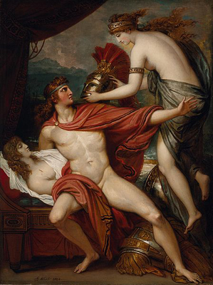 'Thetis Bringing the Armor to Achilles' by Benjamin West, 1804