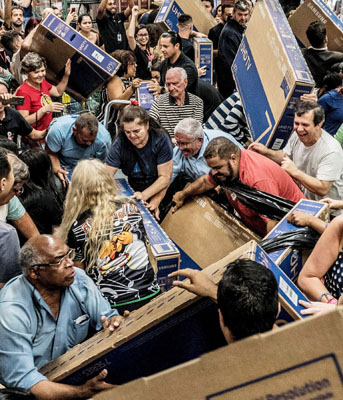 The violent chaos of a Black Friday sale.