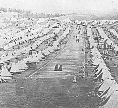 A British-run concentration camp during the Second Boer War