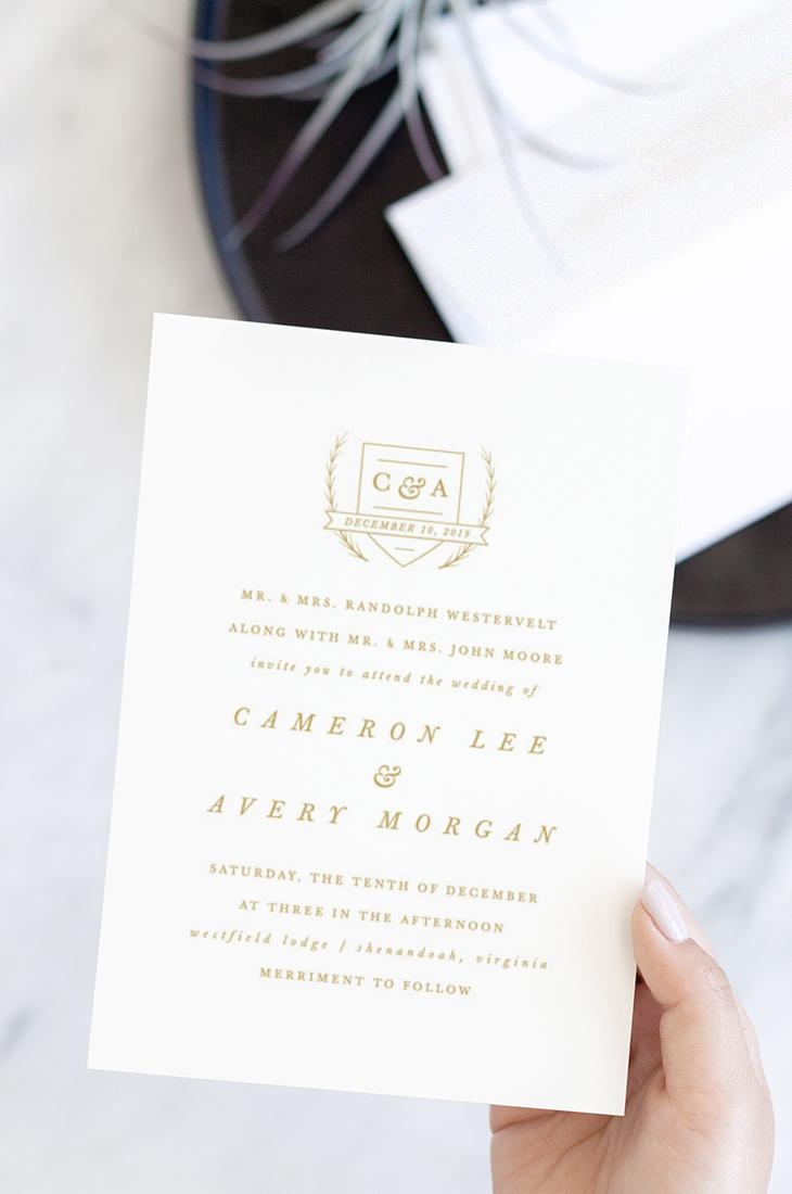 Astor Wedding Invitation