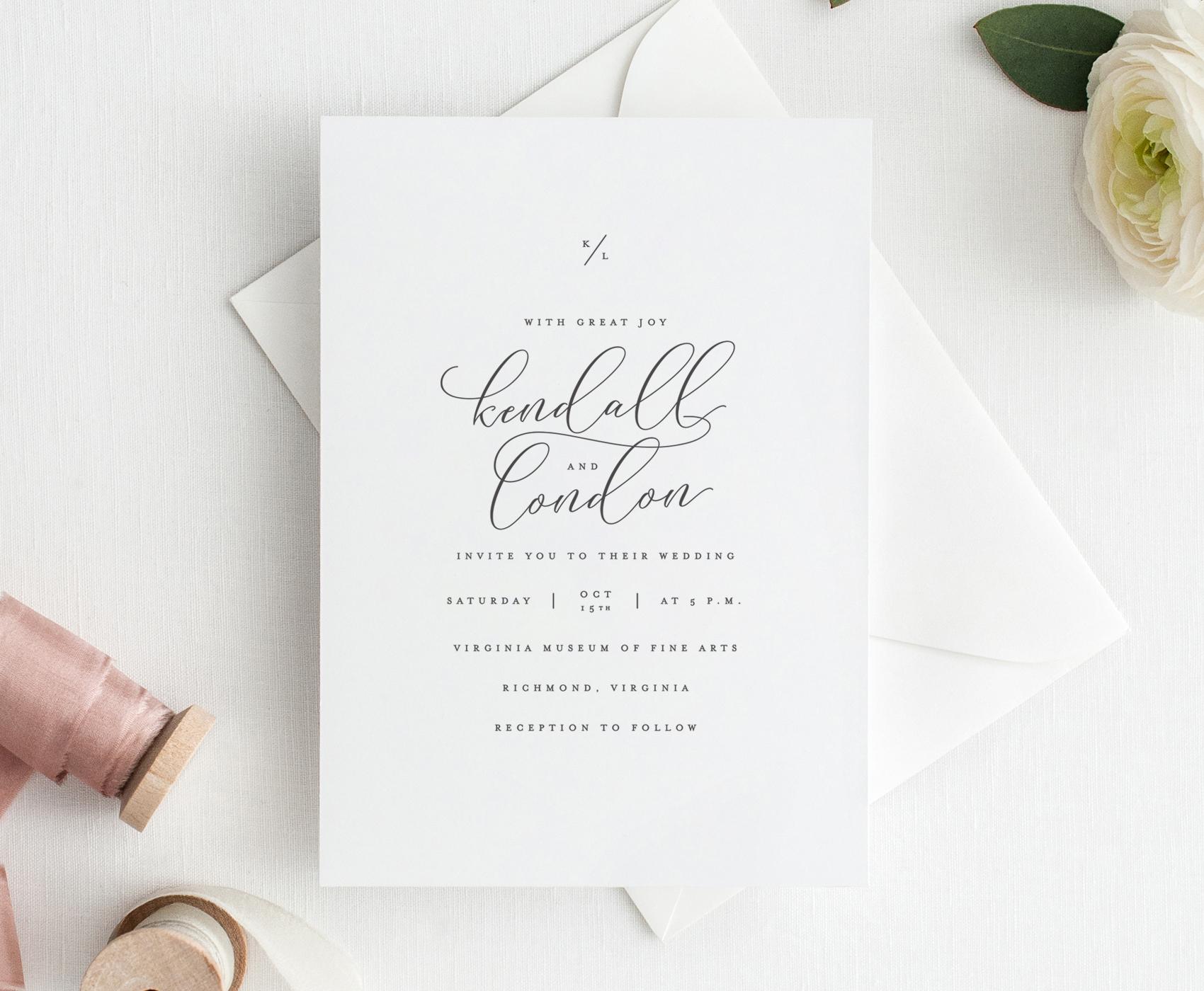 Elliot Wedding Invitation