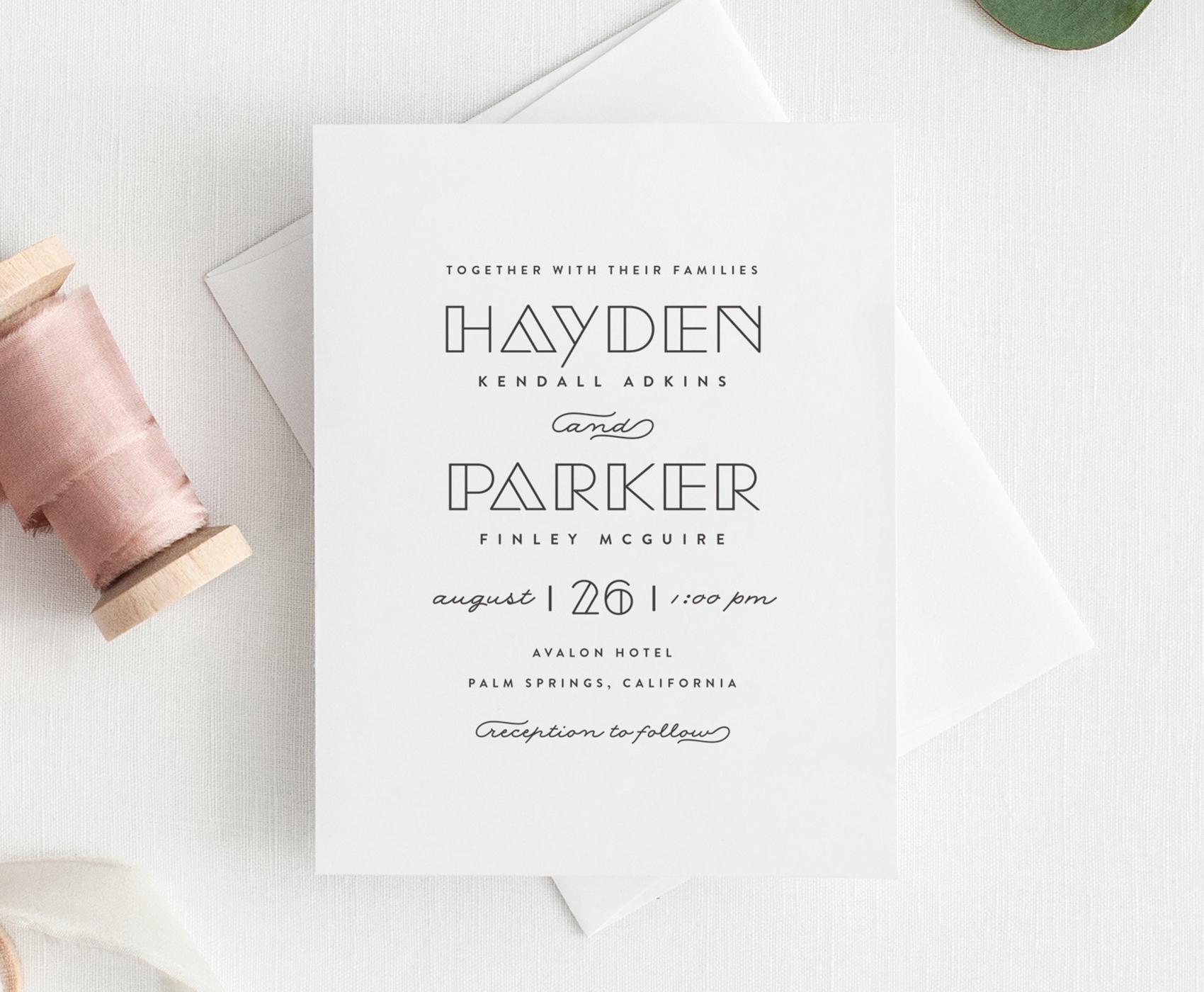 Gilda Wedding Invitation