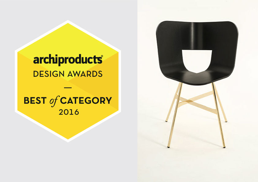 """ARCHIPRODUCTS DESIGN AWARD 2016, Italy_ Tria Gold, designed for Colé Italian Design label, wins """"Best of Category 2016"""" // October 2016"""