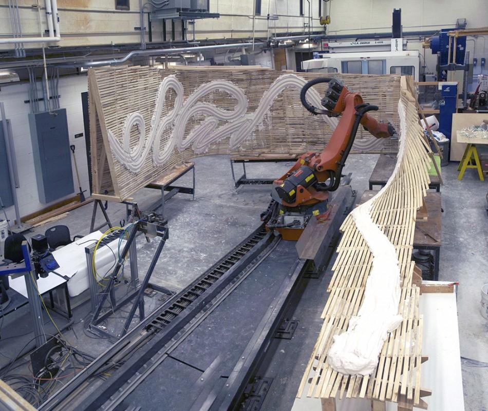 Industrial Robot as Plasterer