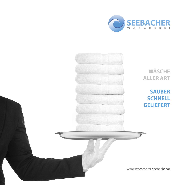 Key-Visual und Slogan für die Wäscherei Seebacher, 2016