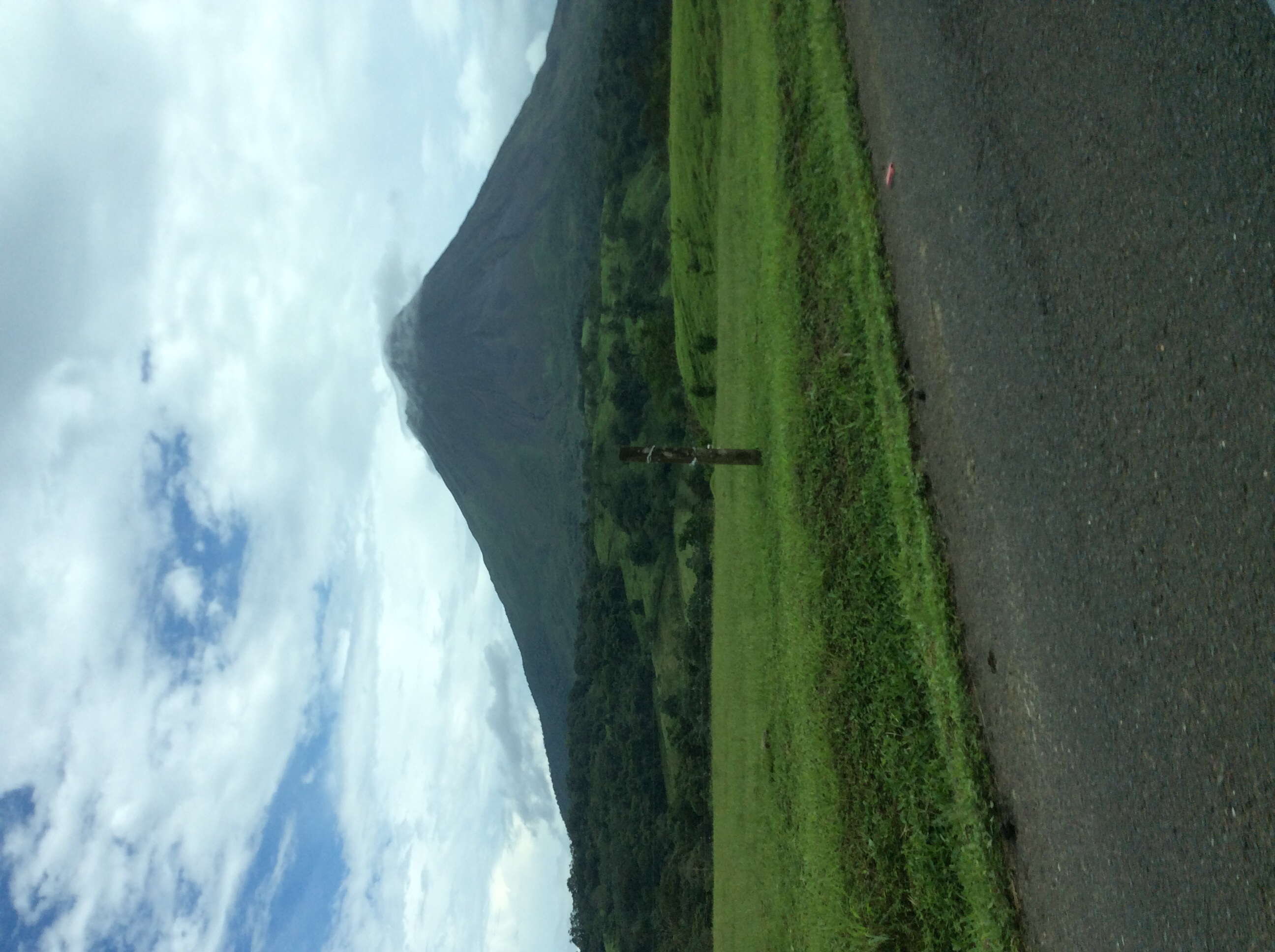 The Arenal Volcano....taken from the car