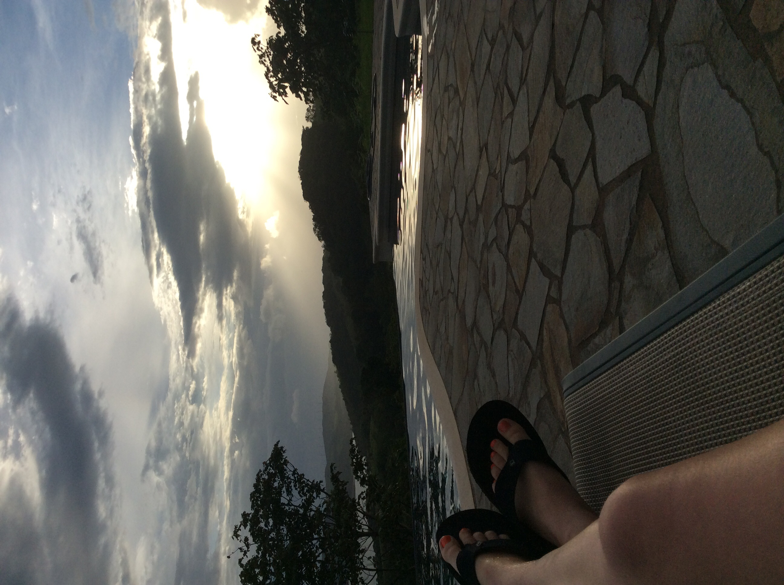 Chillin by the community infinity pool