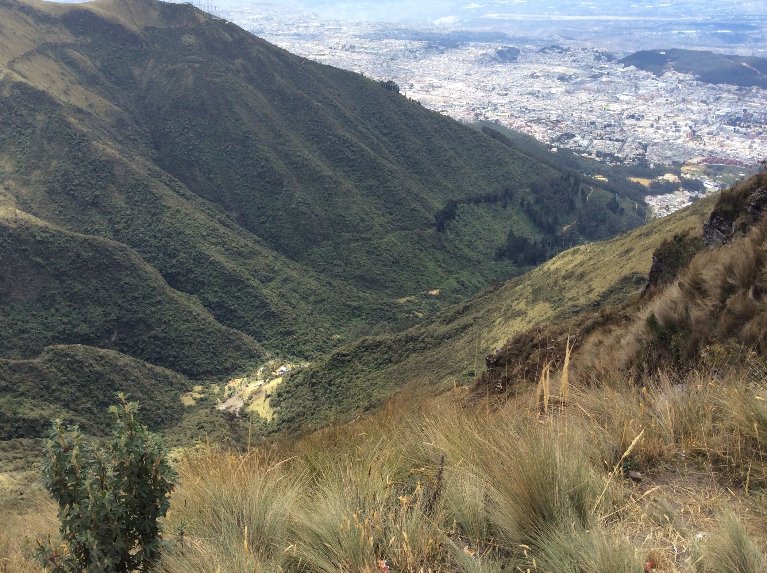 Pretty steep drops, but a lovely view of Quito