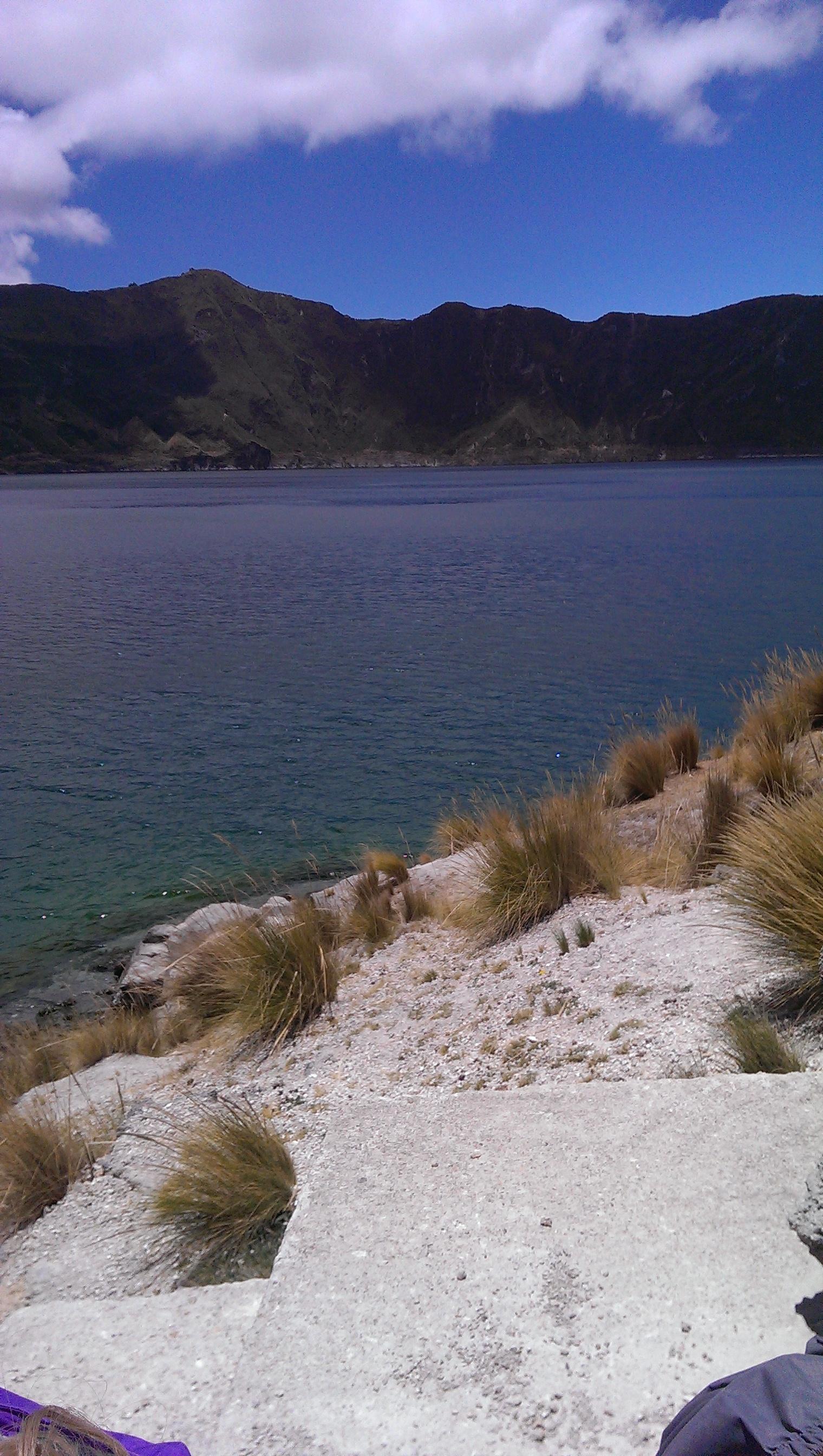 Lake at base of Quilatoa Crater