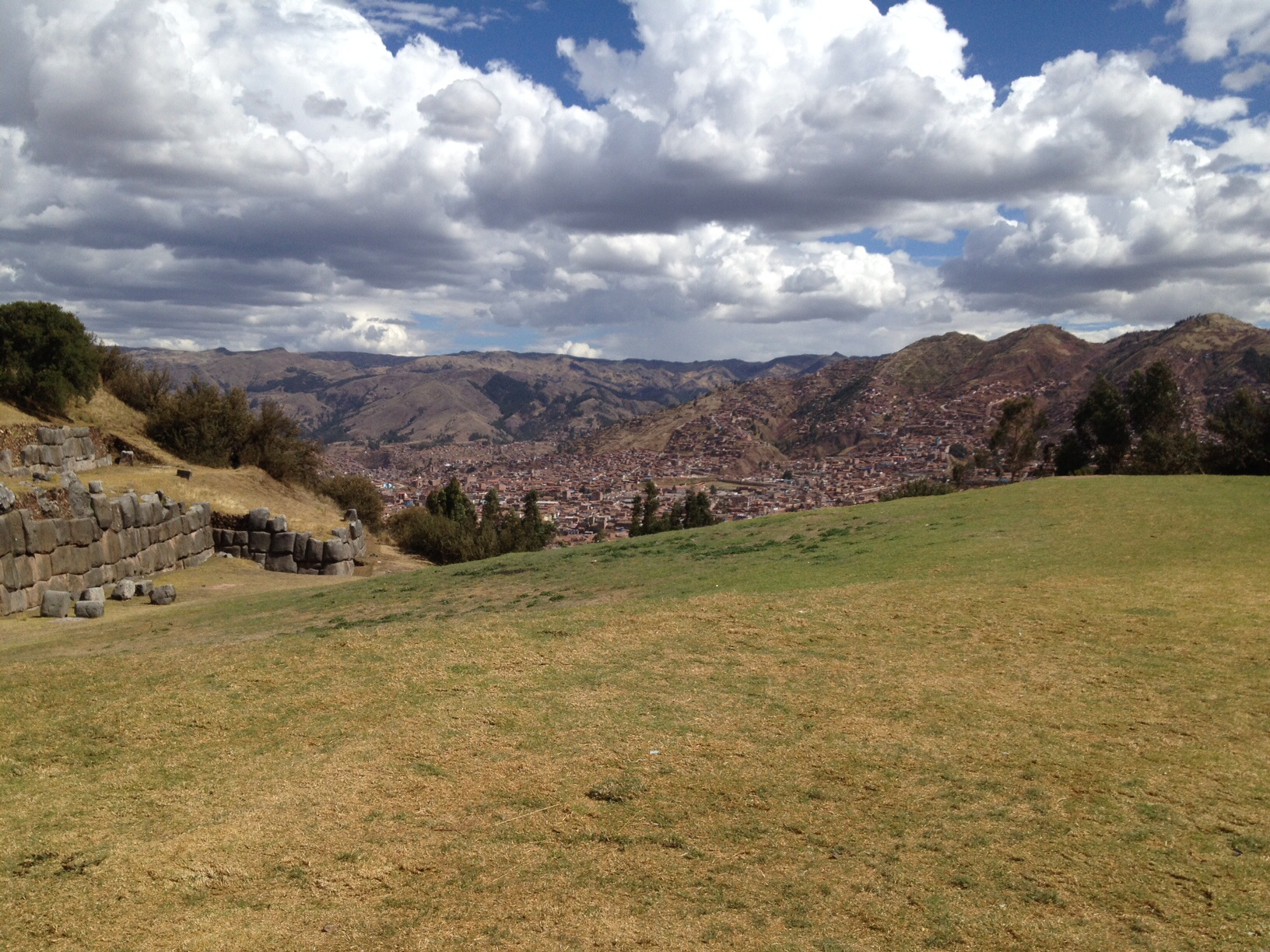 Cusco in valley. A decent hike.