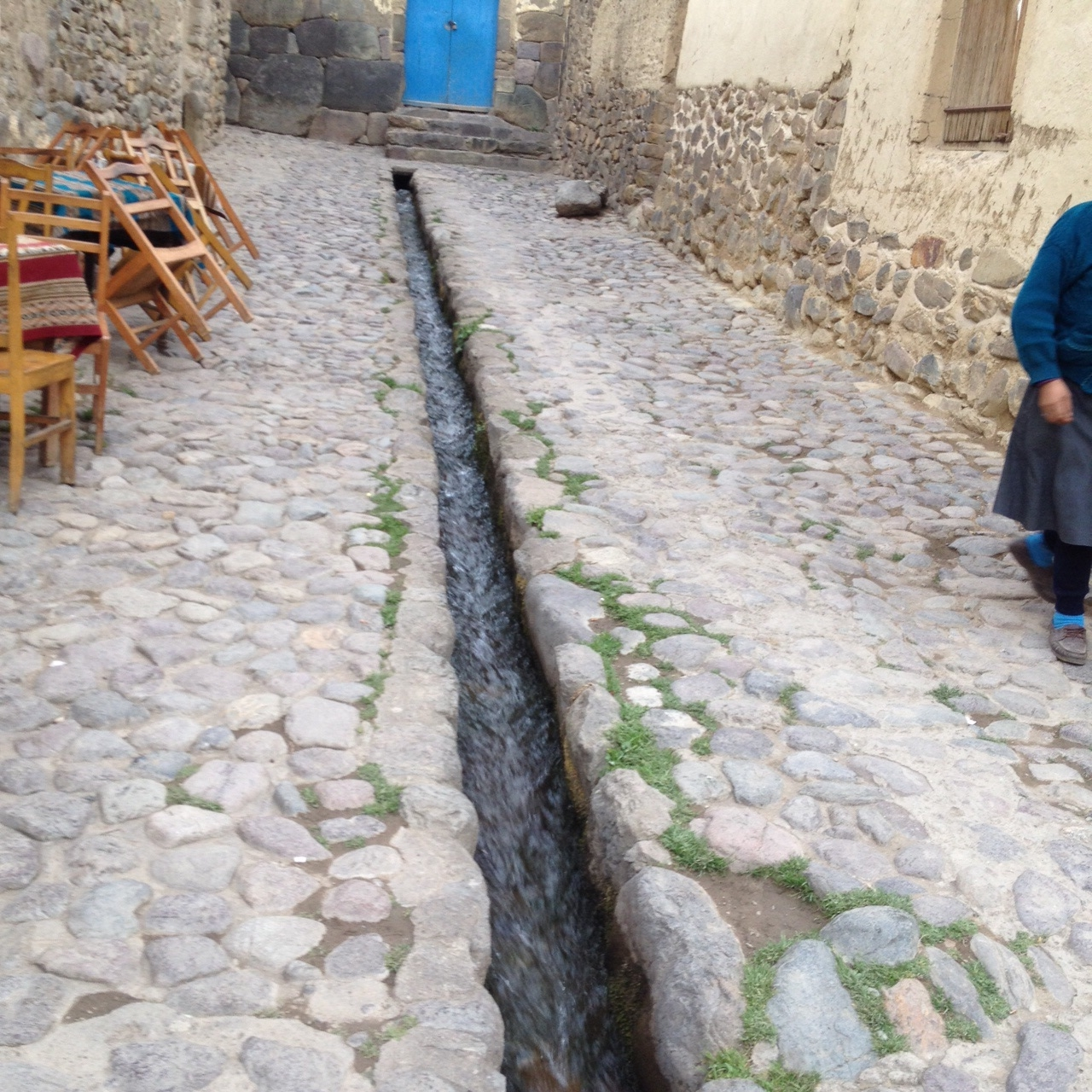 Incan aqueduct still effective.