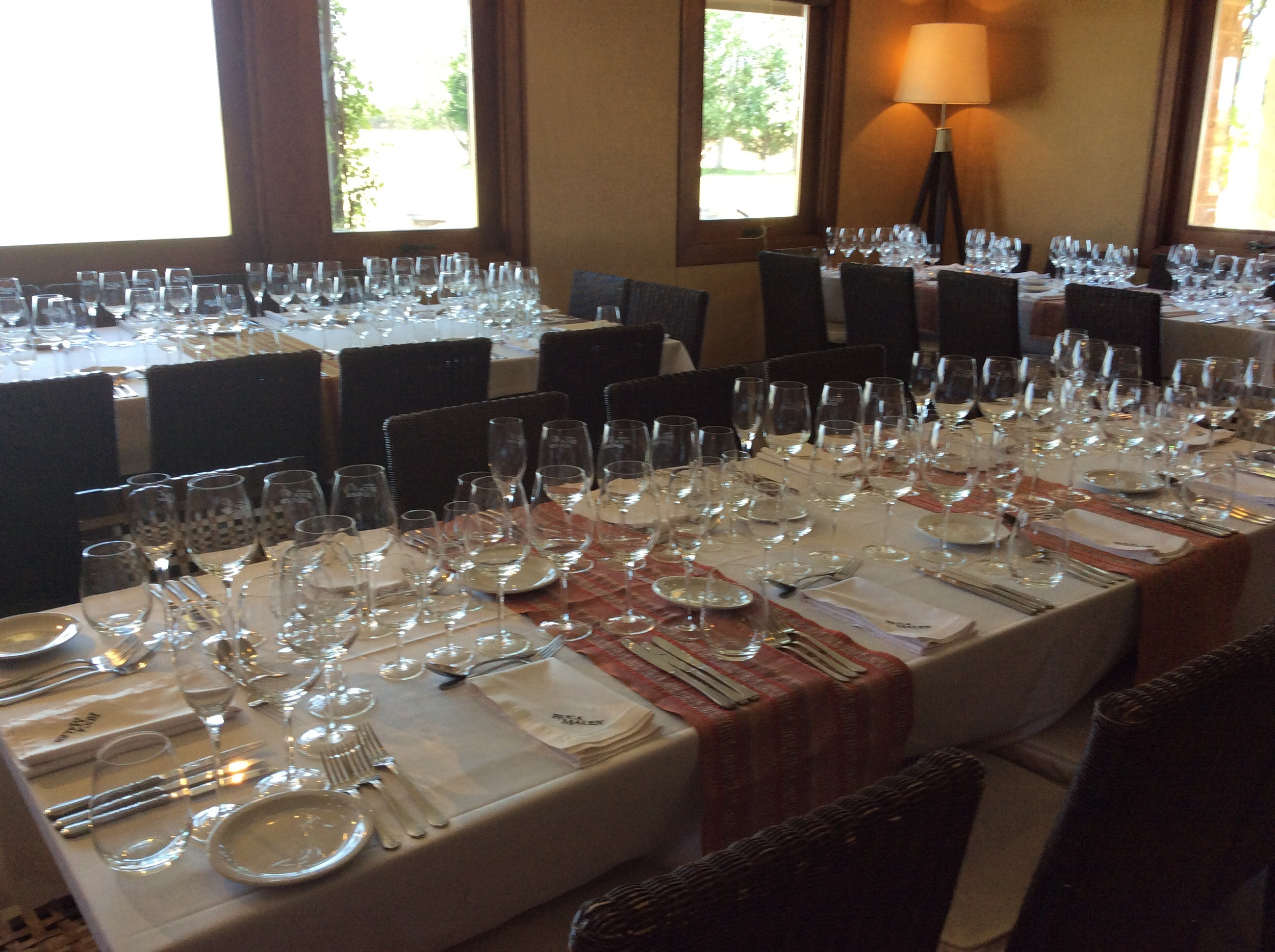 Just a few glasses for a large lunch group arriving soon
