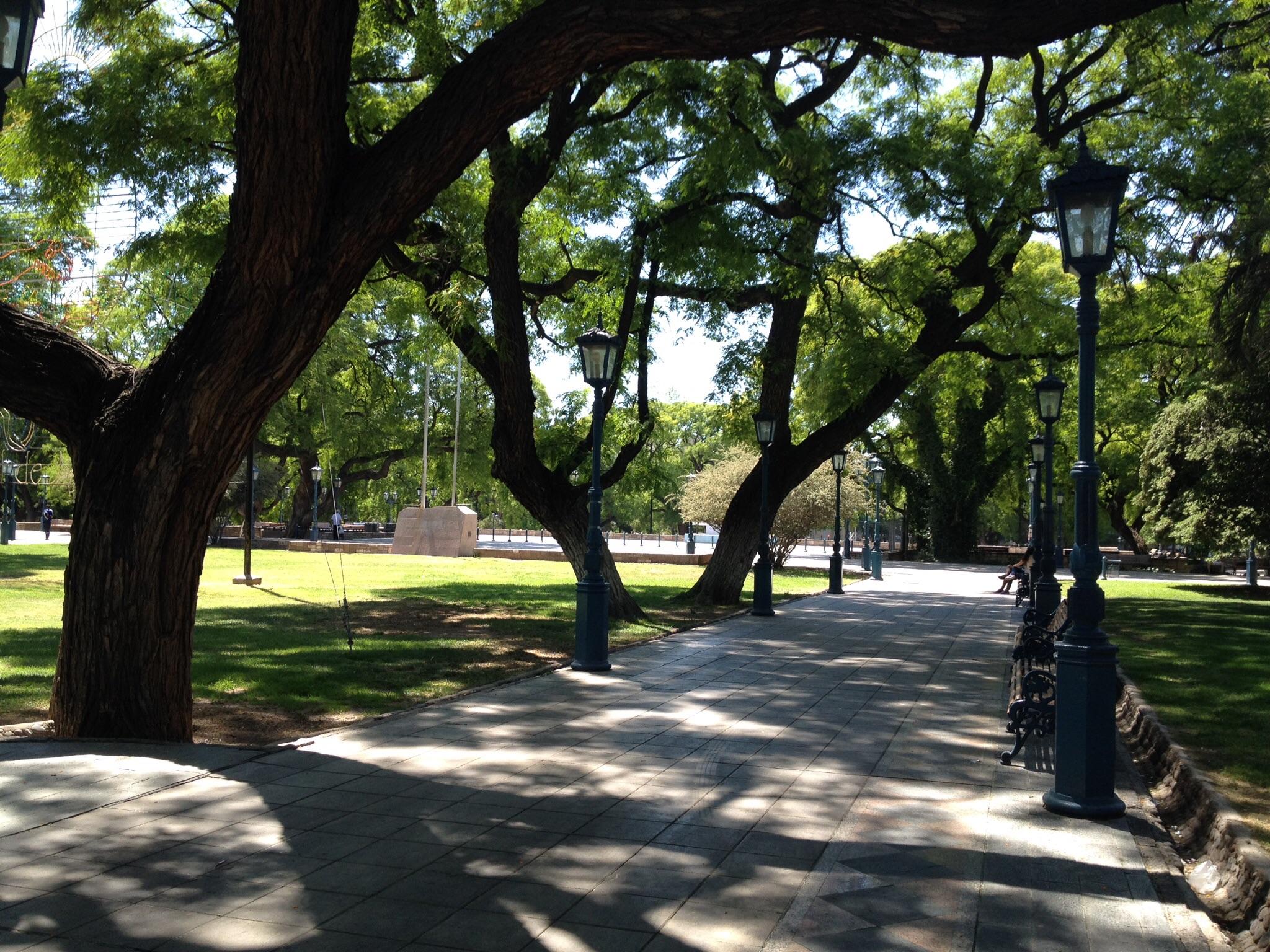 Small park in Mendoza