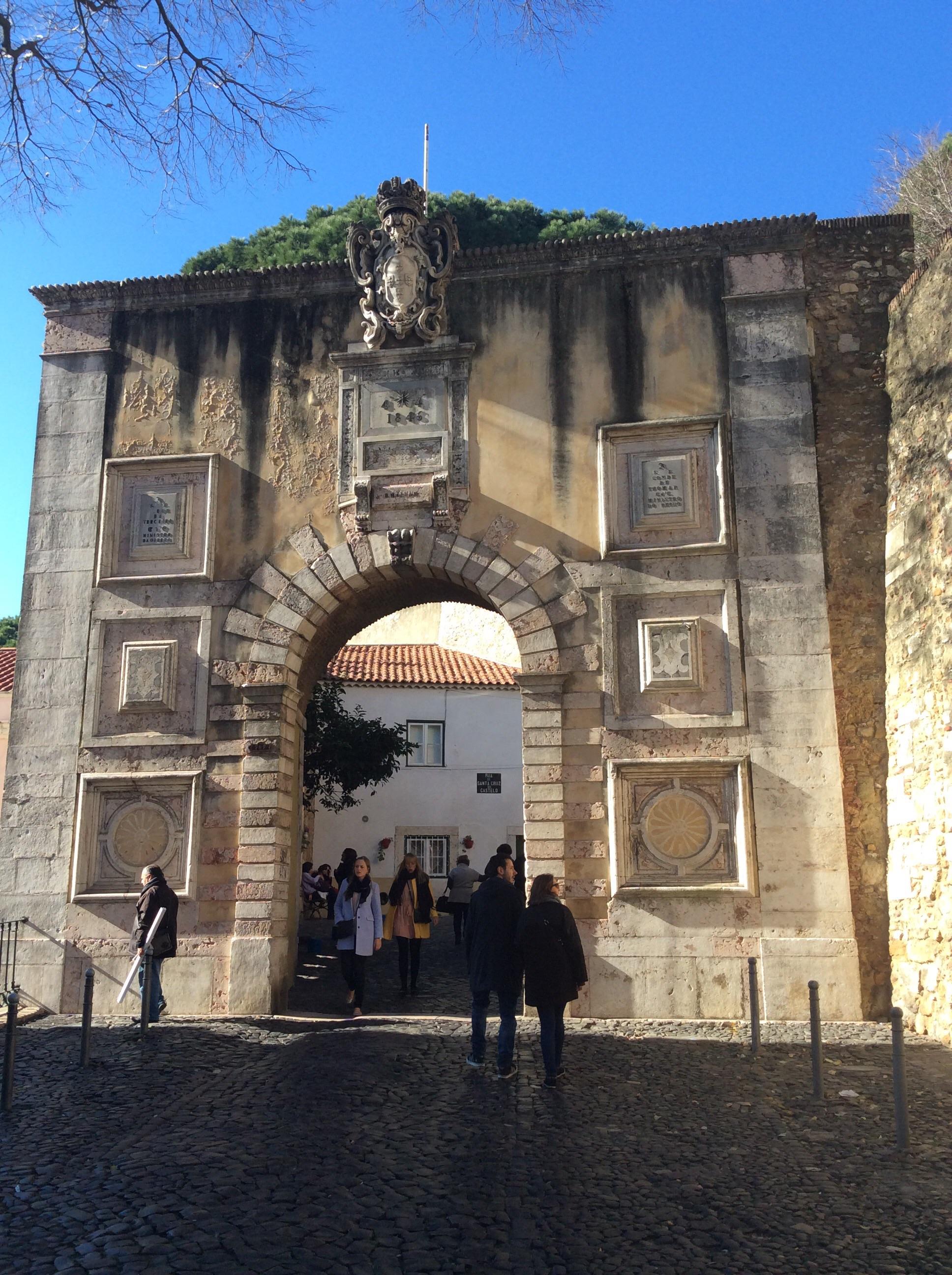 Entrance area to castle